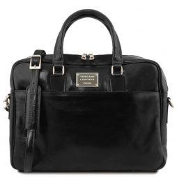 Сумка Tuscany Leather TL141241 Urbino - Кожаный портфель для ноутбука с передним карманом (Цвет - Черный) - картинка 1