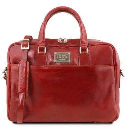 Сумка Tuscany Leather TL141241 Urbino - Кожаный портфель для ноутбука с передним карманом (Цвет - Красный) - картинка 1