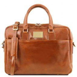 Сумка Tuscany Leather TL141241 Urbino - Кожаный портфель для ноутбука с передним карманом (Цвет - Мед) - картинка 1