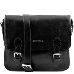 Сумка Tuscany Leather TL141288 TL Postman - Кожаная сумка мессенджер (Цвет - Черный) - картинка 1