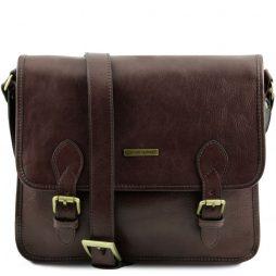 Сумка Tuscany Leather TL141288 TL Postman - Кожаная сумка мессенджер (Цвет - Темно-коричневый) - картинка 1