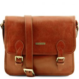 Сумка Tuscany Leather TL141288 TL Postman - Кожаная сумка мессенджер (Цвет - Мед) - картинка 1