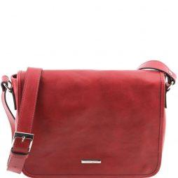 Сумка Tuscany Leather TL141301 TL Messenger - Кожаная сумка на плечо с 1 отделением - Средний размер (Цвет - Красный) - картинка 1