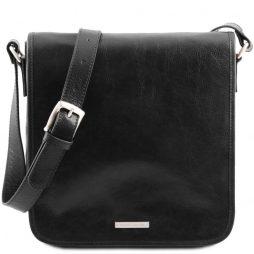 Сумка Tuscany Leather TL141260 TL Messenger - Кожаная сумка на плечо с 1 отделением - Большой размер (Цвет - Черный) - картинка 1