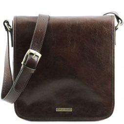 Сумка Tuscany Leather TL141260 TL Messenger - Кожаная сумка на плечо с 1 отделением - Большой размер (Цвет - Темно-коричневый) - картинка 1