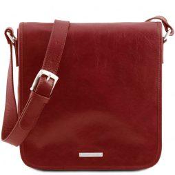Сумка Tuscany Leather TL141260 TL Messenger - Кожаная сумка на плечо с 1 отделением - Большой размер (Цвет - Красный) - картинка 1