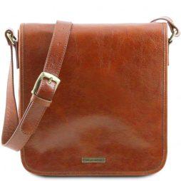 Сумка Tuscany Leather TL141260 TL Messenger - Кожаная сумка на плечо с 1 отделением - Большой размер (Цвет - Мед) - картинка 1
