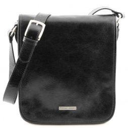 Сумка Tuscany Leather TL141255 TL Messenger - Кожаная сумка на плечо с 2 отделениями (Цвет - Черный) - картинка 1
