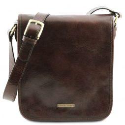 Сумка Tuscany Leather TL141255 TL Messenger - Кожаная сумка на плечо с 2 отделениями (Цвет - Темно-коричневый) - картинка 1
