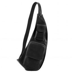 Сумка Tuscany Leather TL141352 Leather crossover bag (Цвет - Черный) - картинка 1