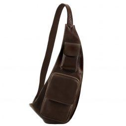 Сумка Tuscany Leather TL141352 Leather crossover bag (Цвет - Темно-коричневый) - картинка 1