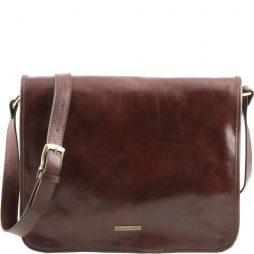 Сумка Tuscany Leather TL141254 TL Messenger - Кожаная сумка на плечо с 2 отделениями - Большой размер (Цвет - Коричневый) - картинка 1