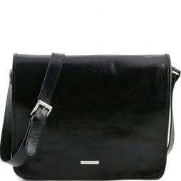 Сумка Tuscany Leather TL141254 TL Messenger - Кожаная сумка на плечо с 2 отделениями - Большой размер (Цвет - Черный) - картинка 1