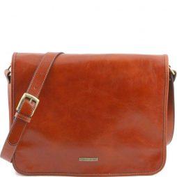 Сумка Tuscany Leather TL141254 TL Messenger - Кожаная сумка на плечо с 2 отделениями - Большой размер (Цвет - Мед) - картинка 1