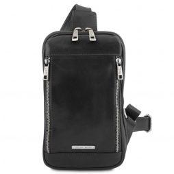 Сумка Tuscany Leather TL141536 Martin - Leather crossover bag (Цвет - Черный) - картинка 1