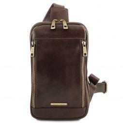 Сумка Tuscany Leather TL141536 Martin - Leather crossover bag (Цвет - Темно-коричневый) - картинка 1