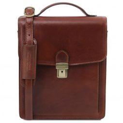 Сумка Tuscany Leather TL141424 David - Кожаная сумка через плечо - Большой размер (Цвет - Коричневый) - картинка 1