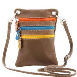 Сумка Tuscany Leather TL141094 TL Bag - Сумка-мини через плечо из мягкой кожи (Цвет - Темный серо-коричневый) - картинка 1