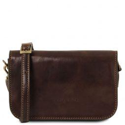 Сумка Tuscany Leather TL141713 Carmen - Кожаная сумка на плечо с клапаном (Цвет - Темно-коричневый) - картинка 1