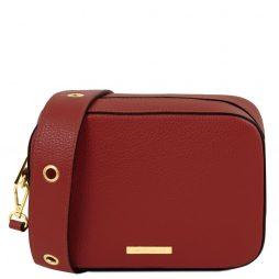 Сумка Tuscany Leather TL141733 TL Bag - Leather shoulder bag (Цвет - Красный) - картинка 1