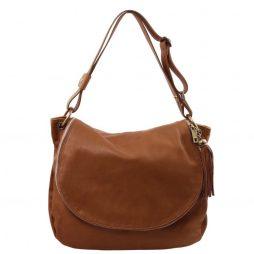 Сумка Tuscany Leather TL141110 TL Bag - Сумка на плечо с кисточкой из мягкой кожи (Цвет - Cinnamon) - картинка 1