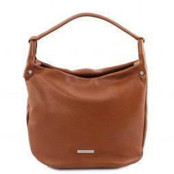 Сумка Tuscany Leather TL141855 TL Bag - Soft leather hobo bag (Цвет - Коньяк) - картинка 1
