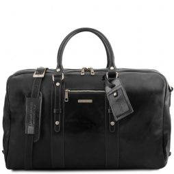 Сумка Tuscany Leather TL141401 TL Voyager - Leather travel bag with front pocket (Цвет - Черный) - картинка 1