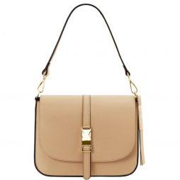 Сумка Tuscany Leather TL141598 Nausica - Leather shoulder bag (Цвет - Champagne) - картинка 1