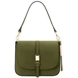 Сумка Tuscany Leather TL141598 Nausica - Leather shoulder bag (Цвет - Olive Green) - картинка 1