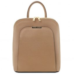 Сумка Tuscany Leather TL141631 TL Bag - Saffiano leather backpack for women (Цвет - Карамель) - картинка 1
