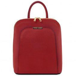Сумка Tuscany Leather TL141631 TL Bag - Saffiano leather backpack for women (Цвет - Красный) - картинка 1