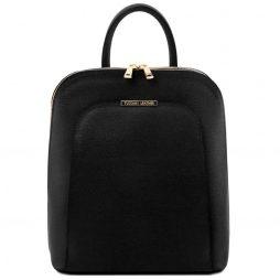 Сумка Tuscany Leather TL141631 TL Bag - Saffiano leather backpack for women (Цвет - Черный) - картинка 1