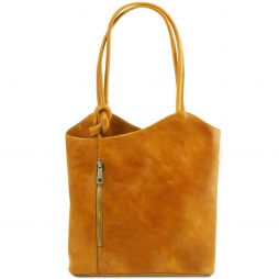 Сумка Tuscany Leather TL141497 Patty - Женская кожаная сумка-рюкзак 2 в 1 (Цвет - Желтый) - картинка 1