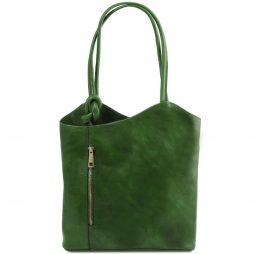 Сумка Tuscany Leather TL141497 Patty - Женская кожаная сумка-рюкзак 2 в 1 (Цвет - Зеленый) - картинка 1