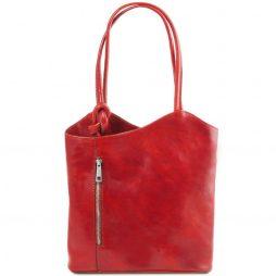 Сумка Tuscany Leather TL141497 Patty - Женская кожаная сумка-рюкзак 2 в 1 (Цвет - Красный) - картинка 1
