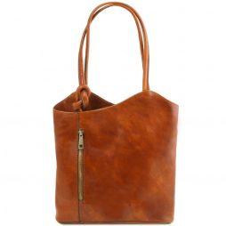 Сумка Tuscany Leather TL141497 Patty - Женская кожаная сумка-рюкзак 2 в 1 (Цвет - Мед) - картинка 1