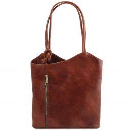 Сумка Tuscany Leather TL141497 Patty - Женская кожаная сумка-рюкзак 2 в 1 (Цвет - Коричневый) - картинка 1