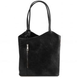 Сумка Tuscany Leather TL141497 Patty - Женская кожаная сумка-рюкзак 2 в 1 (Цвет - Черный) - картинка 1