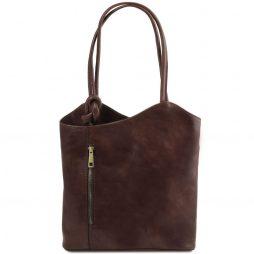 Сумка Tuscany Leather TL141497 Patty - Женская кожаная сумка-рюкзак 2 в 1 (Цвет - Темно-коричневый) - картинка 1