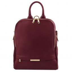 Сумка Tuscany Leather TL141376 TL Bag - Soft leather backpack for women (Цвет - Bordeaux) - картинка 1