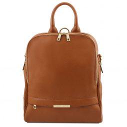 Сумка Tuscany Leather TL141376 TL Bag - Soft leather backpack for women (Цвет - Коньяк) - картинка 1