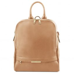 Сумка Tuscany Leather TL141376 TL Bag - Soft leather backpack for women (Цвет - Champagne) - картинка 1