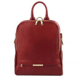Сумка Tuscany Leather TL141376 TL Bag - Soft leather backpack for women (Цвет - Красный) - картинка 1