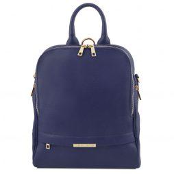 Сумка Tuscany Leather TL141376 TL Bag - Soft leather backpack for women (Цвет - Темно-синий) - картинка 1