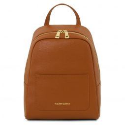 Сумка Tuscany Leather TL141701 TL Bag - Small Saffiano leather backpack for woman (Цвет - Коньяк) - картинка 1