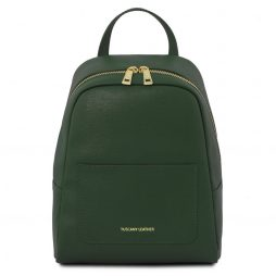 Сумка Tuscany Leather TL141701 TL Bag - Small Saffiano leather backpack for woman (Цвет - Forest Green) - картинка 1