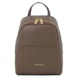 Сумка Tuscany Leather TL141701 TL Bag - Small Saffiano leather backpack for woman (Цвет - Темный серо-коричневый) - картинка 1