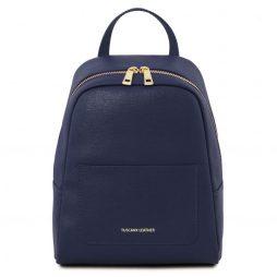 Сумка Tuscany Leather TL141701 TL Bag - Small Saffiano leather backpack for woman (Цвет - Темно-синий) - картинка 1
