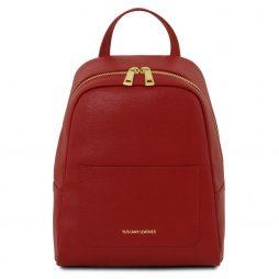 Сумка Tuscany Leather TL141701 TL Bag - Small Saffiano leather backpack for woman (Цвет - Красный) - картинка 1