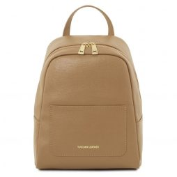 Сумка Tuscany Leather TL141701 TL Bag - Small Saffiano leather backpack for woman (Цвет - Карамель) - картинка 1